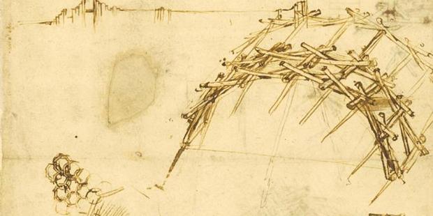 Da Vinci self-supporting bridge